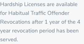 Habitual Traffic Offender Revocations